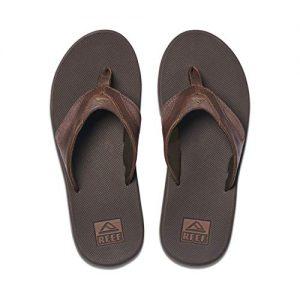 Reef Men's Sandals Leather Fanning | Bottle Opener Flip Flops for Men