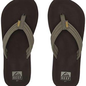 Reef Boys AHI Beach Sandal, Brown/Olive