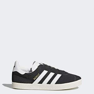 Adidas ORIGINALS Boys' Gazelle Sneaker, Dark Solid Grey/White/Metallic Gold