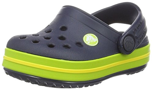 Crocs Kids Crocband Clog Navy/Volt Green Clogs