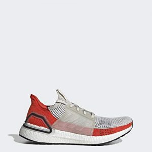 adidas Men's Ultraboost 19 Running Shoe, raw White/Active Orange
