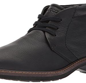 ECCO Men's Turn Gore-tex Tie Chukka Boot, Black