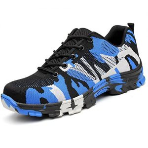 Tongzone Steel Toe Shoes Work Safety Shoes Athletic Breathable Mesh