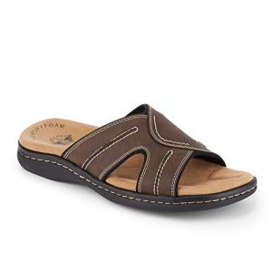 dockers Mens Sunland Casual Slide Sandal Shoe Dark Brown