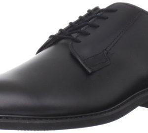 Bates Men's Leather Uniform Oxford, Black