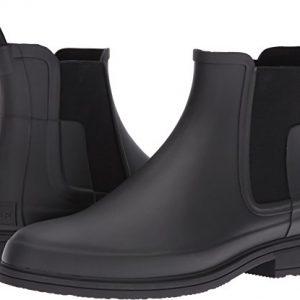 HUNTER Original Refined Dark Sole Chelsea Boots Black