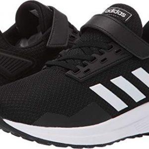 adidas Unisex-Kid's Duramo 9 Running shoe, black/white/black
