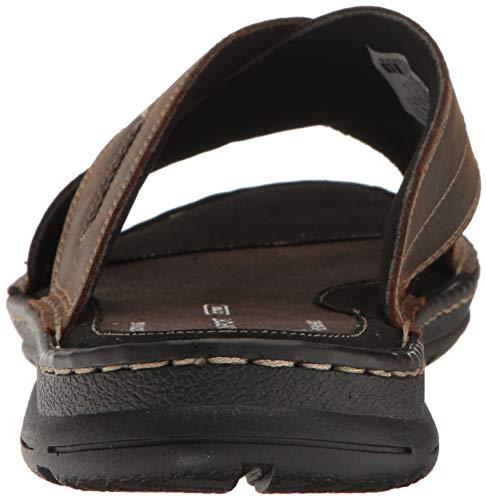 Rockport Men's Darwyn Xband Slide Sandal, Brown Leather Rockport Men's Darwyn Xband Slide Sandal, Brown Leather, 10 M US.