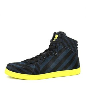 Gucci Men's Multi Color Calf Hair Leather High top Limited Sneakers