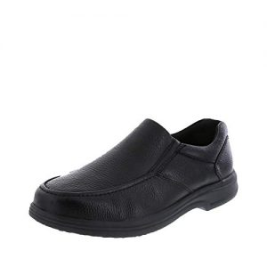 safeTstep Slip Resistant Men's Black Men's Comfort Moc Slip-On