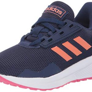 adidas Unisex-Kid's Duramo 9 Running Shoe, Dark Blue/Semi Coral/Real