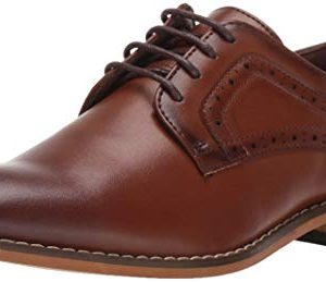 STACY ADAMS Boys' Dickens Lace-Up Oxford, Cognac