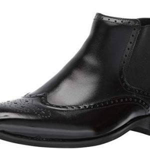 Stacy Adams Men's Iverson Wingtip Chelsea Boot, Black