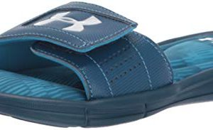 Under Armour Boys' Ignite Fleet V Slide Sandal, Petrol Blue