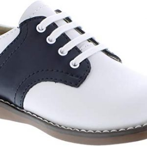 FootMates Unisex Cheer 3 (Infant/Toddler/Little Kid) White/Navy Oxford