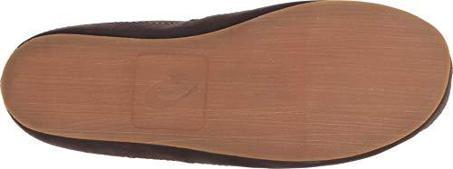 OLUKAI Men's Moloa Slipper Mid Dark Roast/Dark Roast OLUKAI Men's Moloa Slipper Mid Dark Roast/Dark Roast 10 D US.