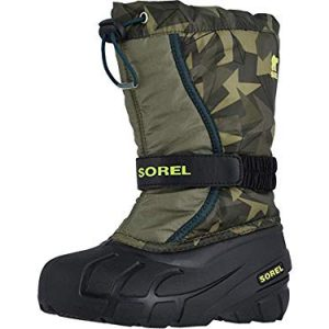 Sorel Kids Boy's Flurry Print (Toddler/Little Kid/Big Kid) Hiker Green/Black
