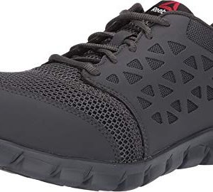Reebok Work Men's Sublite Cushion Work Comp Toe EH Grey
