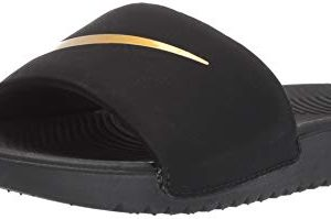 Nike Boys' Kawa Slide (GS/PS) Sandal, Black/Metallic Gold