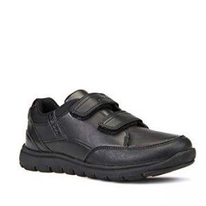 Geox Boys' Xunday 3, Sport Sneaker Shoe, Blk EU/10, Black Oxford