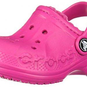 Crocs Kids' Baya Lined Clog, Candy Pink/Candy Pink