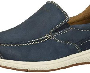 Florsheim Kids Boys' Great Lakes Jr. Moc to Slip On Loafer Indigo