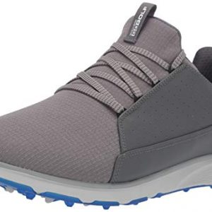 Skechers Men's Mojo Waterproof Golf Shoe, Charcoal/Blue Textile