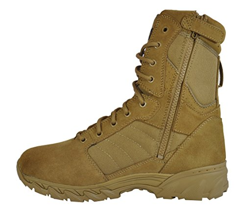 Smith & Wesson Footwear Men's Breach 2.0 Tactical Size Zip Boots Smith & Wesson Footwear Men's Breach 2.0 Tactical Size Zip Boots, Coyote, 10.5.