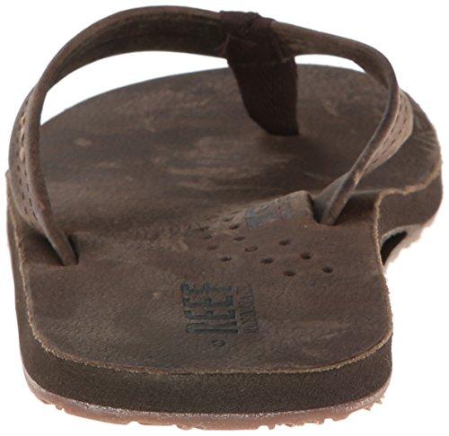 Reef Men's Leather Sandals Draftsmen | Bottle Opener Flip Flops for Men Reef Men's Leather Sandals Draftsmen | Bottle Opener Flip Flops for Men with Soft Cushion Footbed, Chocolate, 10.