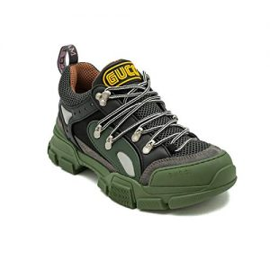 Gucci Men's Flashtrek Sneaker Shoes Green/Black
