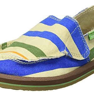 Sanuk Kids Boys' Lil Donny Funk Loafer, Baja Stripe
