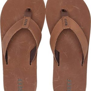 Reef - Boys Kids Leather Smoothy Sandals, Size: 4/5 M US Big Kid