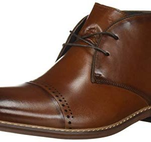 STACY ADAMS Men's Ashby Cap-Toe Lace-Up Chukka Boot