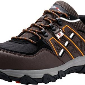 LARNMERN Steel Toe Shoes Men, Safety Work Reflective Strip Puncture Proof