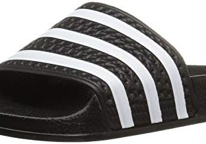adidas Originals Kids' Adilette Sandal, Black/White/Black