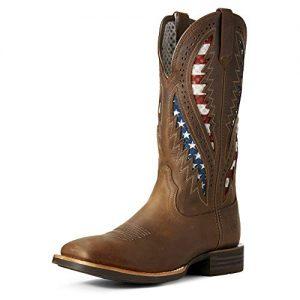 Ariat Men's Quickdraw Venttek Western Boot, Distressed Brown