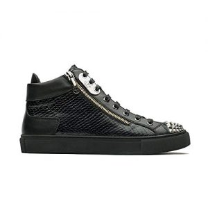 Men's Casual High Top Sneaker Snake Skin