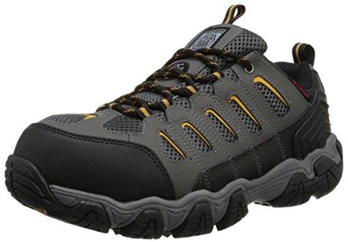 Skechers for Work Men's Blais Hiking Shoe, Dark Gray