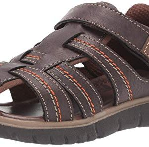 Stride Rite boys Wallace Sandal , brown