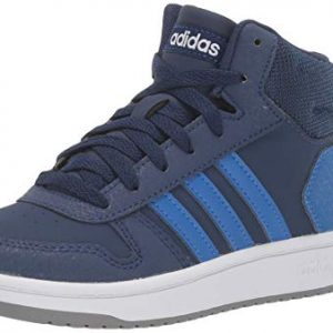 adidas Unisex Hoops Mid 2.0 Sneaker, Dark Blue/White