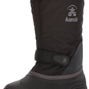 Kamik Kids Waterbug5 Snow Boot, Black/Charcoal