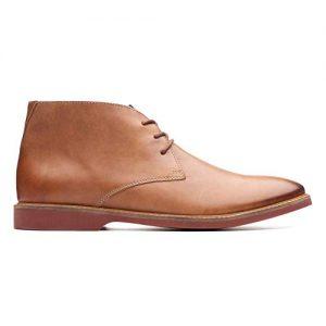 CLARKS Men's Atticus Limit Chukka Boot, Tan Leather