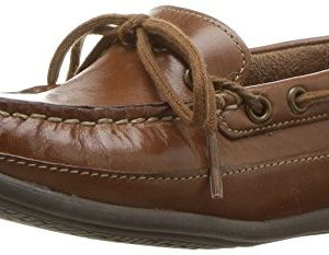 Florsheim Kids Boys' Jasper Tie, Jr. Driving Style Loafer, Saddle tan