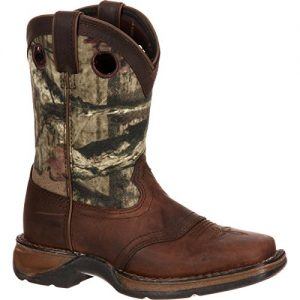 Durango Unisex Lil Big Kid Camo Saddle Western Boot Mid Calf