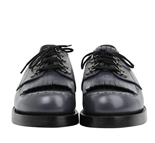 Gucci Fringed Brogue Bluish Gray Leather Lace-up Shoes Gucci Fringed Brogue Bluish Gray Leather Lace-up Shoes 358271 1107 (11 G / 12 US).