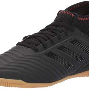 adidas Unisex-Kid's Predator 19.3 Indoor, Black/Black/Active red