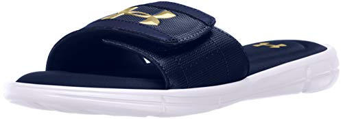 Under Armour mens Ignite V Slide Sandal, Academy