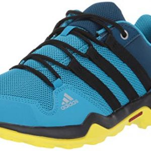 adidas outdoor Terrex Kids Hiking Shoe Boot, Cyan/Black/Shock Yellow