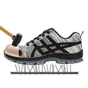 showcai Unisex Steel Toe Work Shoes Industrial&Construction Shoes