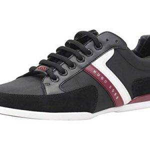 Hugo Boss Men's Spacit Charcoal Trainers Sneakers Shoes